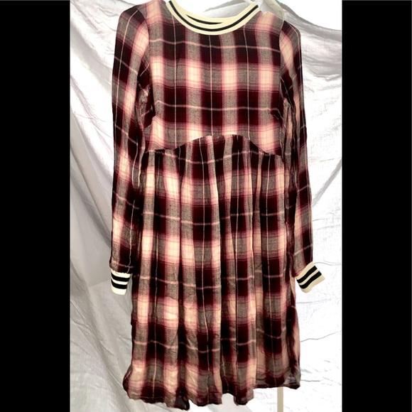A plaid dress.